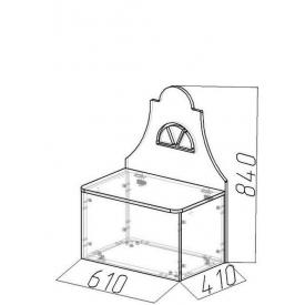 Лавочка-домик Амстердам-4 (ВхШхГ)810х610х410