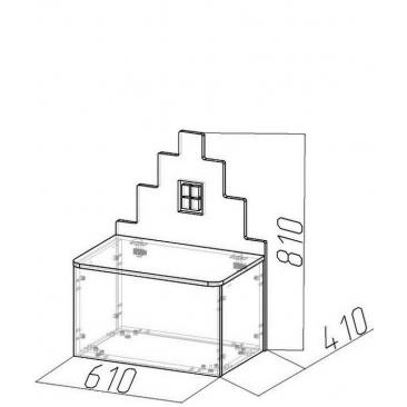 Лавочка-домик Амстердам-1 (ВхШхГ)810х610х410