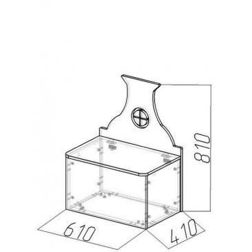 Лавочка-домик Амстердам-5 (ВхШхГ)810х610х410