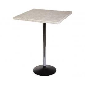 Барный стол Стив хром квадрат