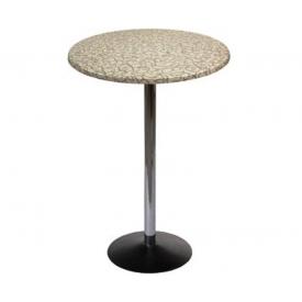 Барный стол Стив хром круг
