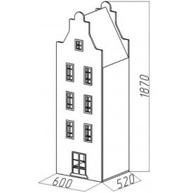 Шкаф-дом Амстердам-7 (ВхШхГ)1870х600х520