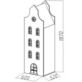 Шкаф-дом Амстердам-8 (ВхШхГ)1870х600х520