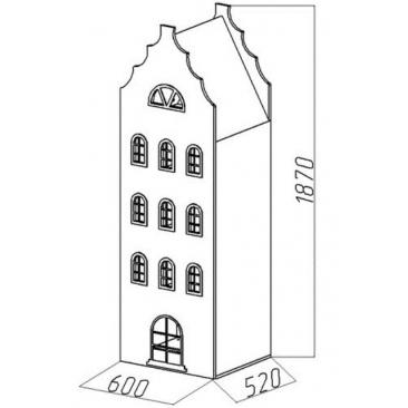 Шкаф-дом Амстердам-9 (ВхШхГ)1870х600х520