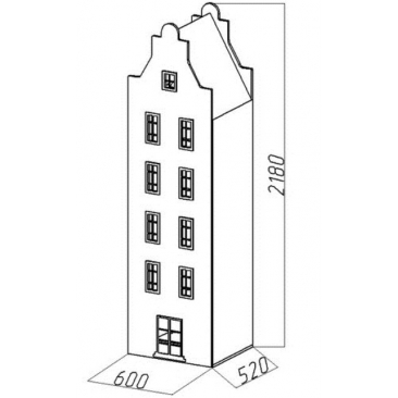 Шкаф-дом XL Амстердам-7 (ВхШхГ)2180х600х520