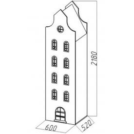 Шкаф-дом XL Амстердам-8 (ВхШхГ)2180х600х520