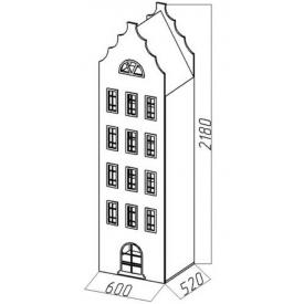 Шкаф-дом XL Амстердам-9 (ВхШхГ)2180х600х520