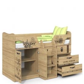 Кровать с выдвижным столом Корсар-2 (ВхШхГ)1198х1836х1094
