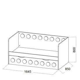 Кровать детская Лего доп.место (ВхШхГ)800х1645х850