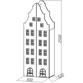 Шкаф-дом двустворчатый XL Амстердам