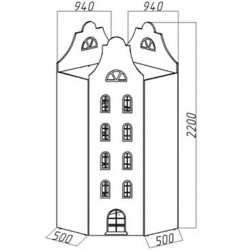 Шкаф-дом угловой Амстердам-4