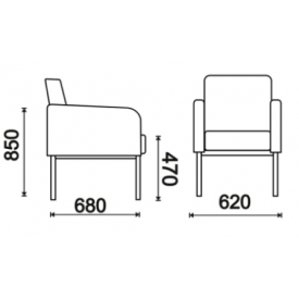 Кресло Клод (ВхШхГ)850х620х680