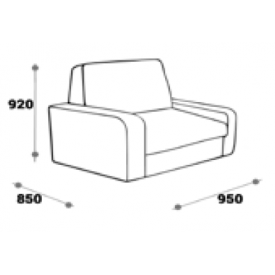 Кресло Моника (ВхШхГ)920х950х850