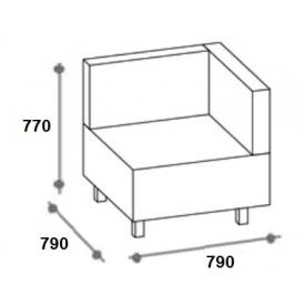 Секция угловая Лекса (ВхШхГ)770х790х790