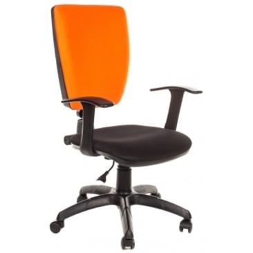 Кресло Нота-Т оранжевый/черный