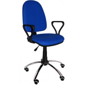 Кресло Престиж хром синий