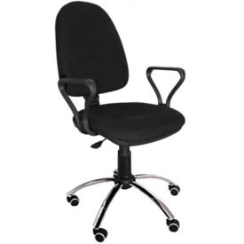 Кресло Престиж хром черный