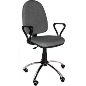 Кресло Престиж хром серый