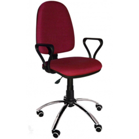 Кресло Престиж хром бордовый