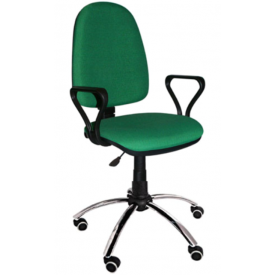 Кресло Престиж хром зеленый
