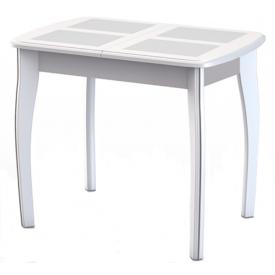 Стол раздвижной Домино-1 МР белый 750х900/1250х600