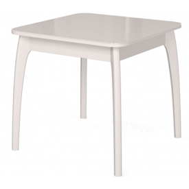 Стол раскладной №45 белый/стекло белое 740х800/1170х800