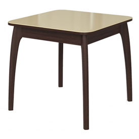 Стол раскладной №45 венге/стекло бежевое 740х800/1170х800
