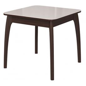 Стол раскладной №45 венге/стекло белое 740х800/1170х800