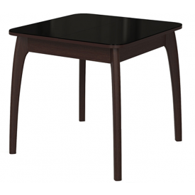 Стол раскладной №45 венге/стекло черное 740х800/1170х800