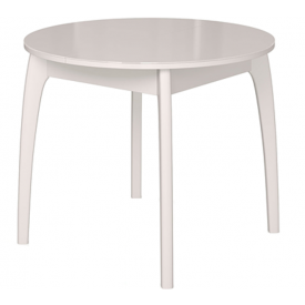 Стол раскладной №46 белый/стекло белое 740х900/1250х900