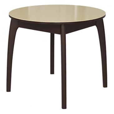 Стол раскладной №46 венге/стекло бежевое 740х900/1250х900