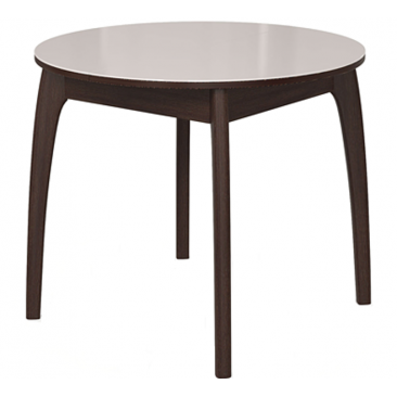 Стол раскладной №46 венге/стекло белое 740х900/1250х900