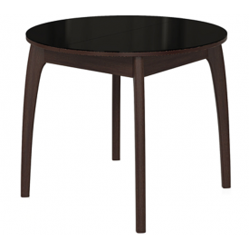 Стол раскладной №46 венге/стекло черное 740х900/1250х900