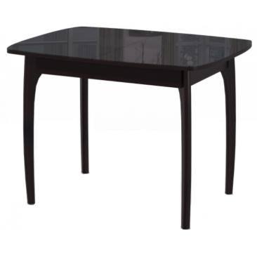 Стол раскладной М-15 венге/стекло черное 740х1050/1420х750
