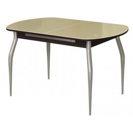 Стол раскладной СО-04 венге/стекло бежевое 745х1100/1400х700