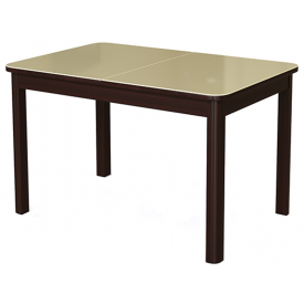 Стол раскладной №41 венге/стекло бежевое 740х1200/1570х800