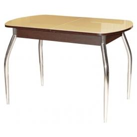 Стол раскладной Гала-1 венге/стекло песочное