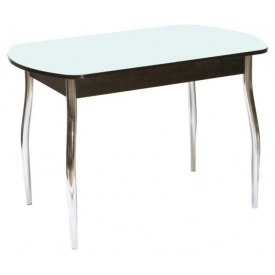 Стол раскладной Гала-1 венге/стекло белое