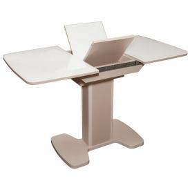 Стол раскладной Гранд 17-Б с белым стеклом 750х1050/1400х750