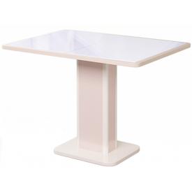 Стол раскладной Гранд 18-K с белым стеклом 750х1050/1400х750