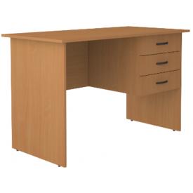 Стол письменный однотумбовый 3 ящика (ВхШхГ)750х1400х600