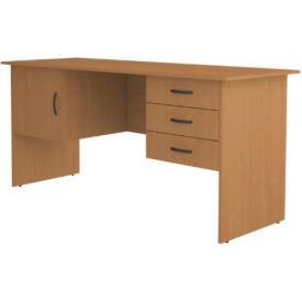 Стол письменный дверь и 3 ящика (ВхШхГ)750х1600х600