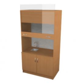 Шкаф вытяжной с сантехникой (ВхШхГ)2000х1060х690