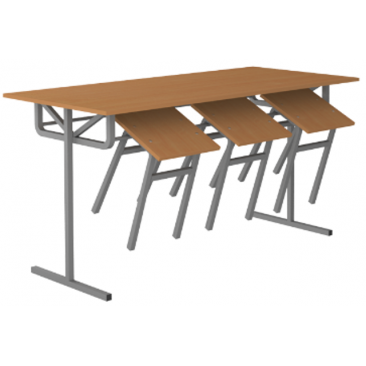 Стол обеденный под табурет 6‑и местный (ВхШхГ)760х1500х700