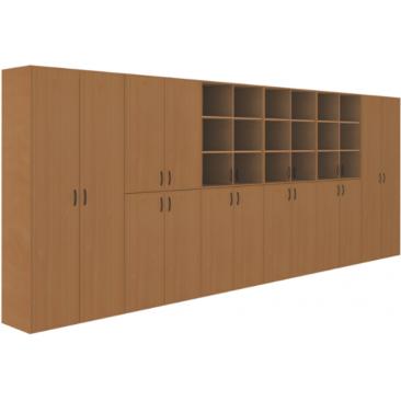 Шкаф модульный-1 (ВхШхГ)2010х5160х450 методический кабинет