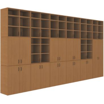 Шкаф кабинета химии‑2 (ВхШхГ)2689х5160х450