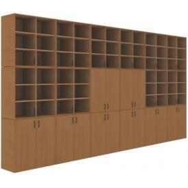 Шкаф кабинета физики (ВхШхГ)2689х5160х450