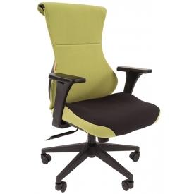 Кресло Game-10 зеленый/черный