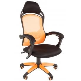 Кресло Game-12 оранжевый/черный