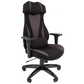 Кресло Game-14 серый/черный